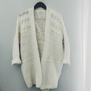 Zara wool blend cable knit cardigan size S